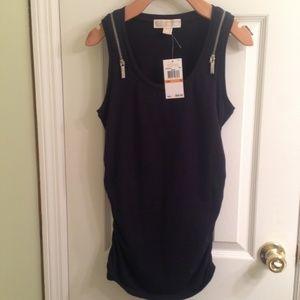 Michael Kors Navy Sleeveless Top Size Small NWT